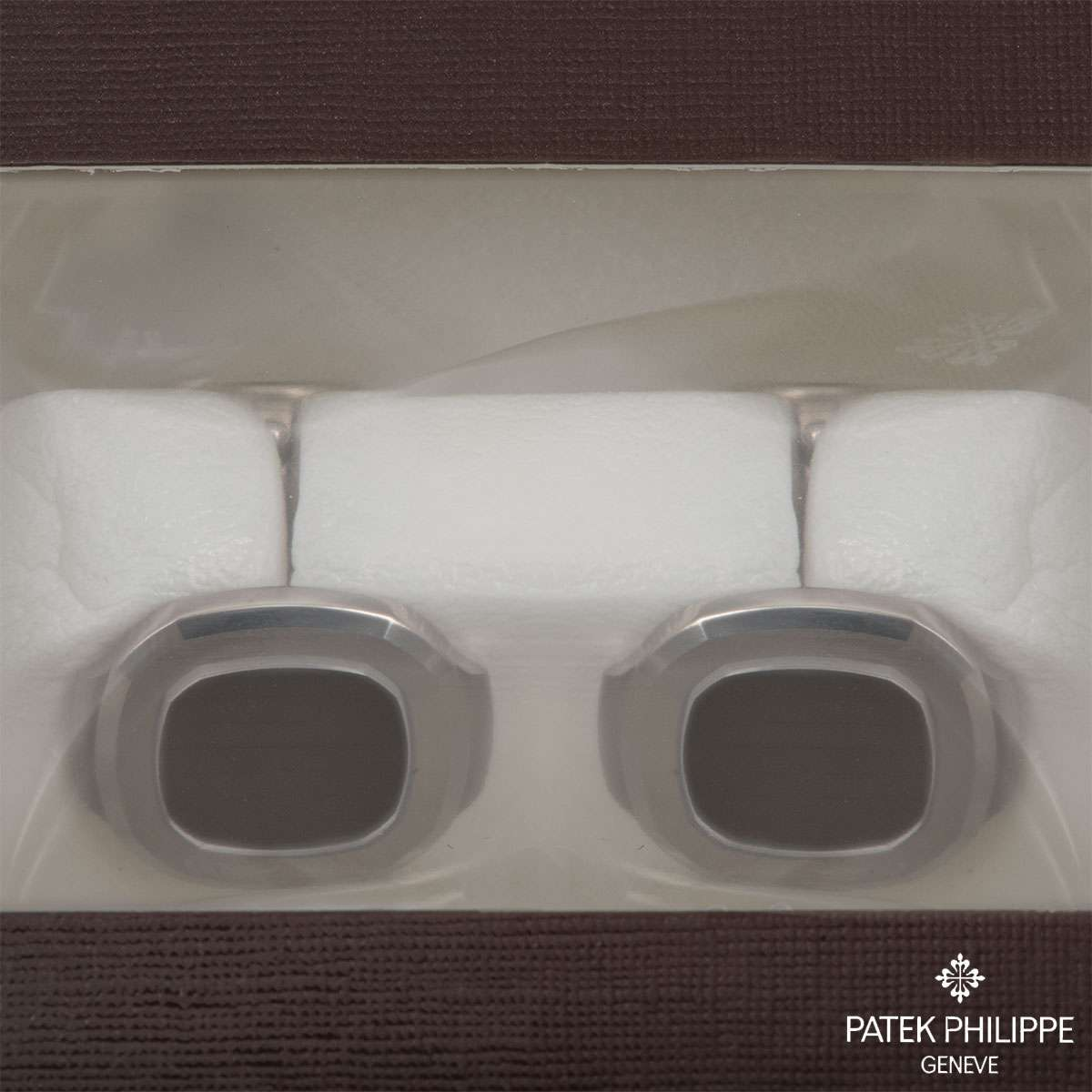 Patek Philippe White Gold Double Sealed Nautilus Cufflinks 205.9057G-001